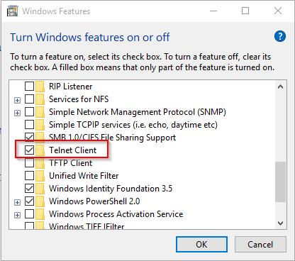 Wolfgang Ziegler - Installing the Windows Telnet Client