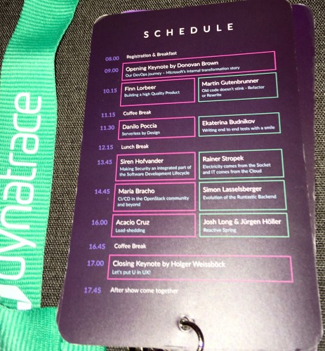 DevOne conference schedule