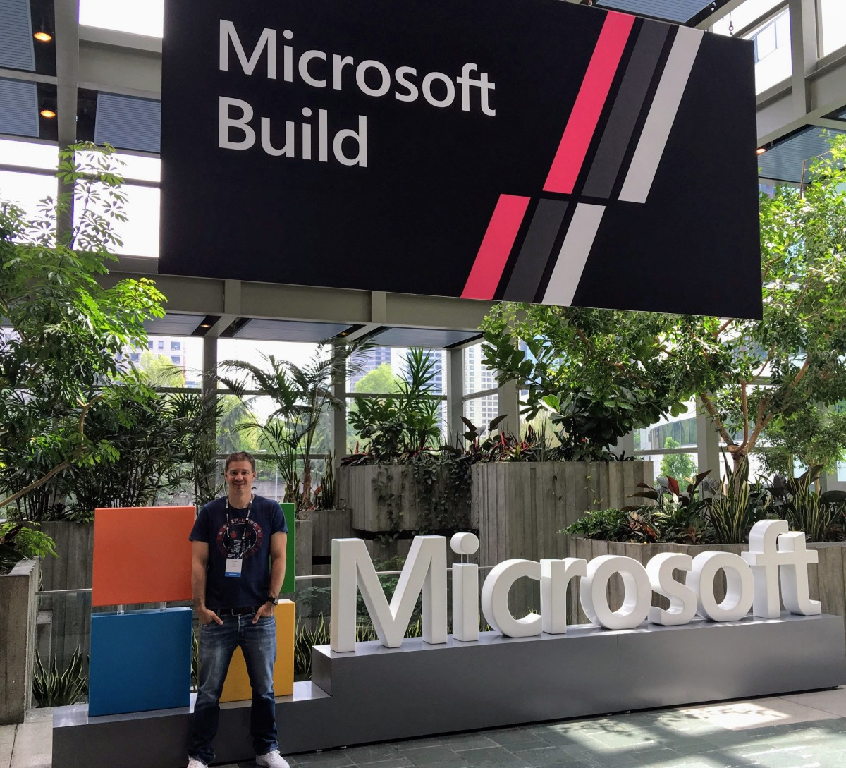 Yours truly at MSBuild registration