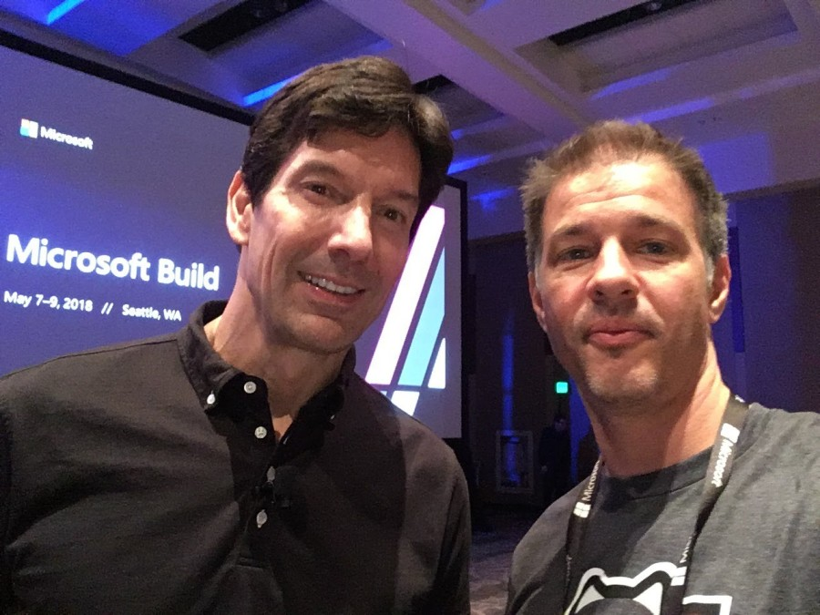 A selfie with Mark Russinovich