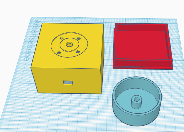 Modelling the case and the knob in Tinkercad