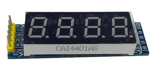 TM1637 4-digit-7-segment display