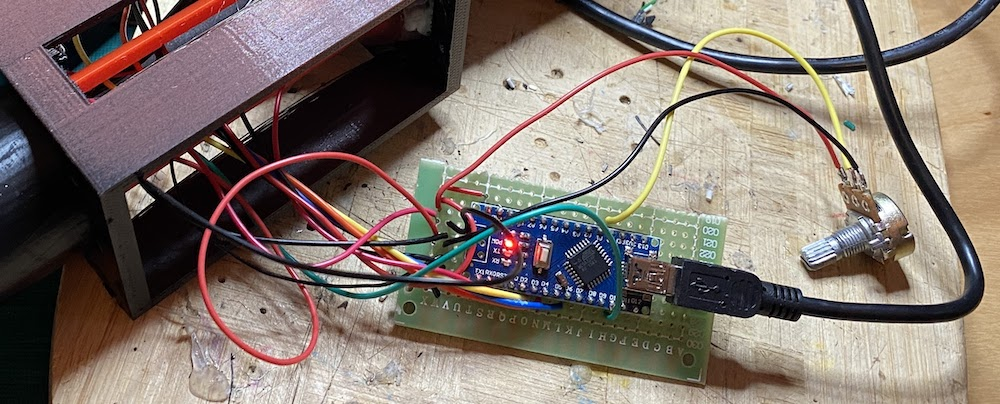 Potentiometer connected to the arduino
