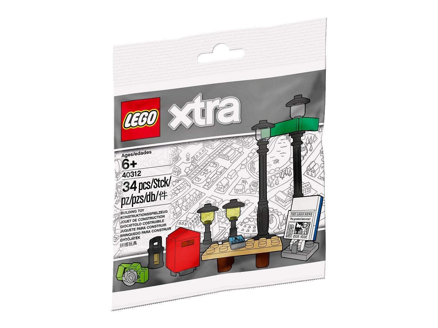 LEGO street lamp set with