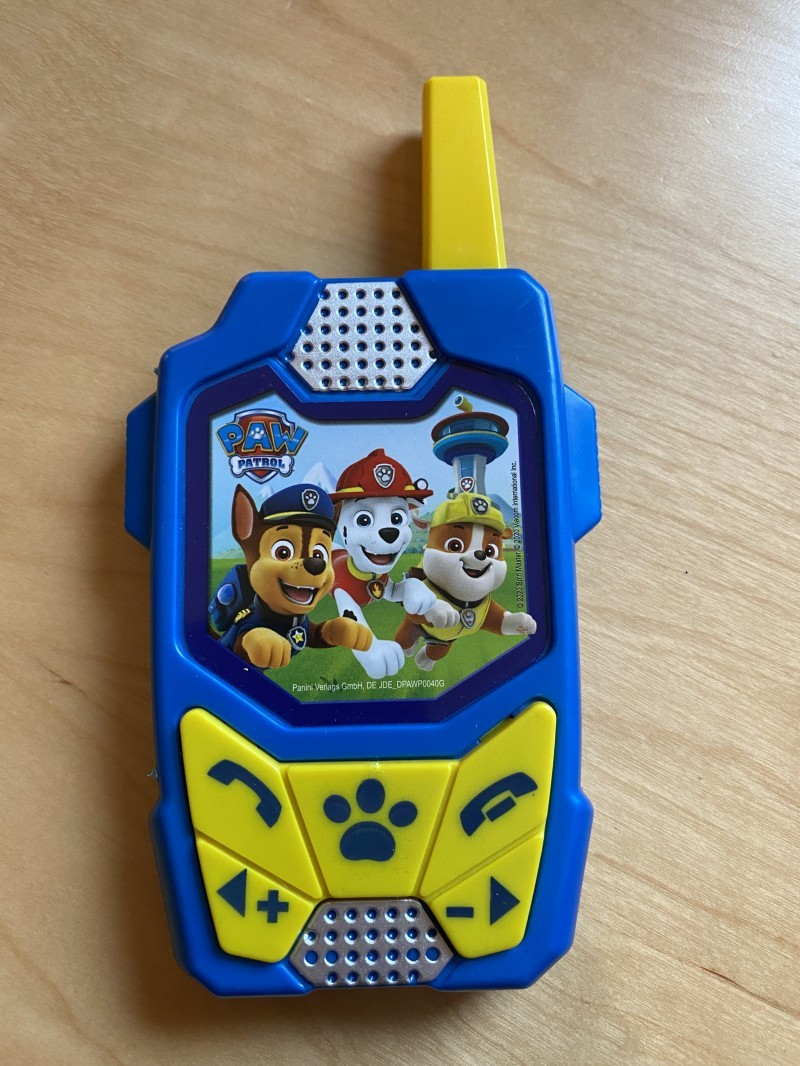 "The Paw Patrol ""Walkie Talkie"" (before)"