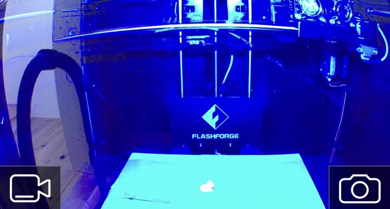 Image of the Flasforge Creator Pro taken by the mounted Blink Mini
